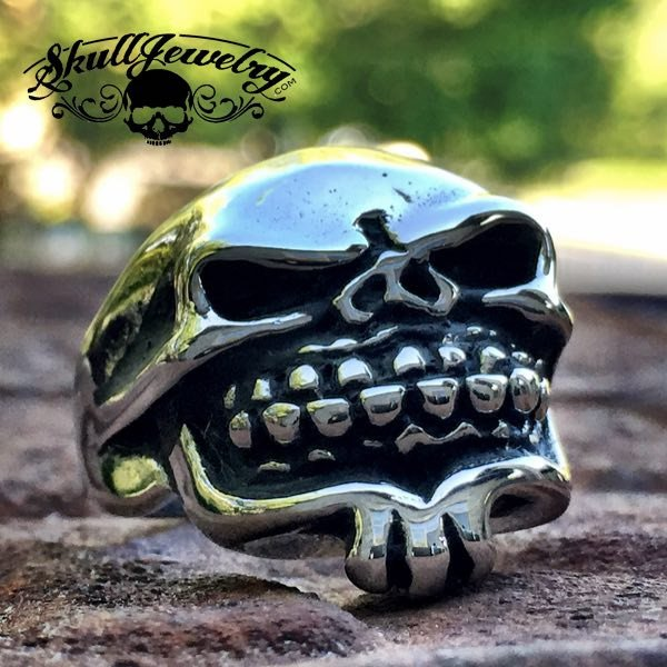 'Happy Jack' Tribal Skull Ring