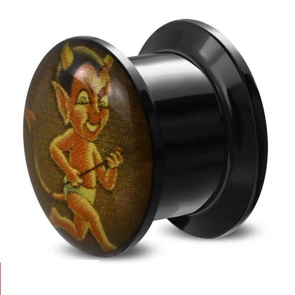 10mm Devil Baby On The Run Ear Plug (c123)