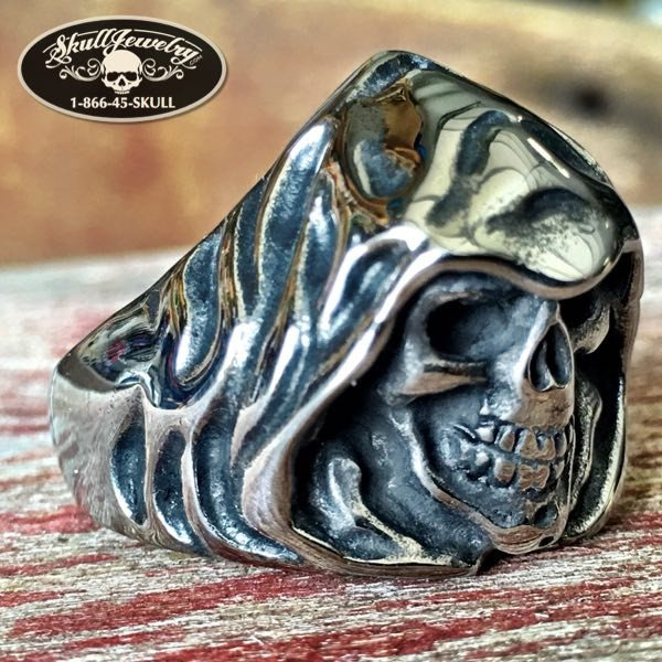'Soul Collector' Grim Reaper Skull Ring