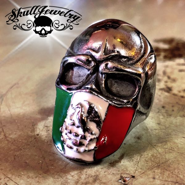 Mexican Infidel Skull Ring