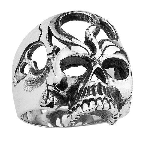 Hollow Eyes and Forehead Skull Ring