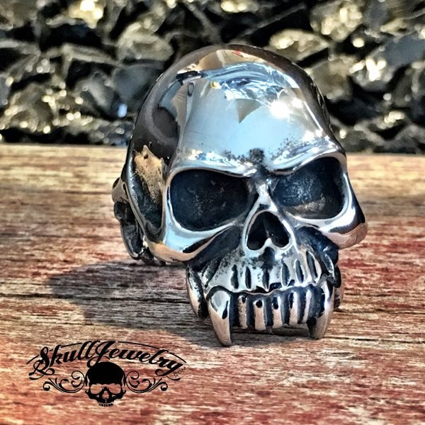 'Into The Great Wide Open' Wide Mouth Skull Ring