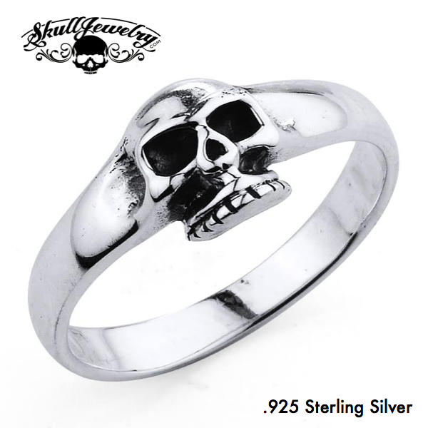 'Lovely Rita' .925 Sterling Silver Skull Ring (ss160)