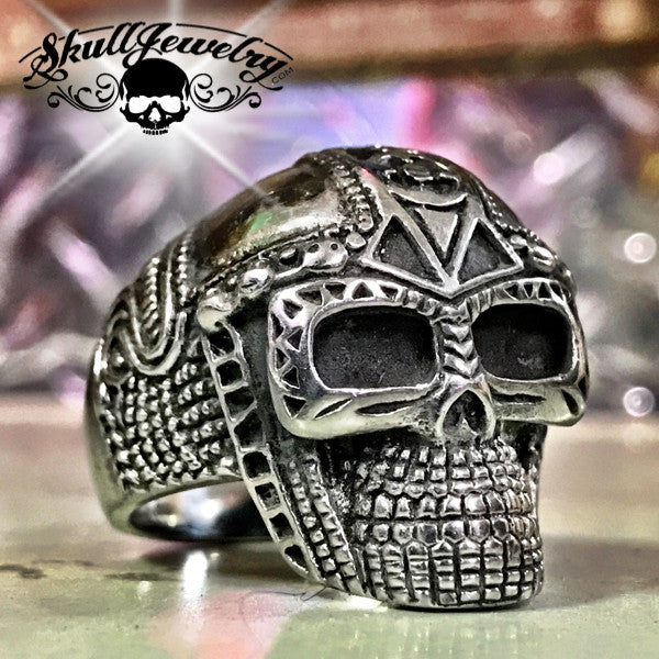 'Mr. Roboto' Skull Ring