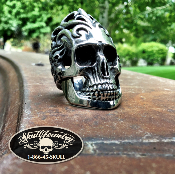 'Won't Get Fooled Again' Big, Bold & Heavy Skull Ring (