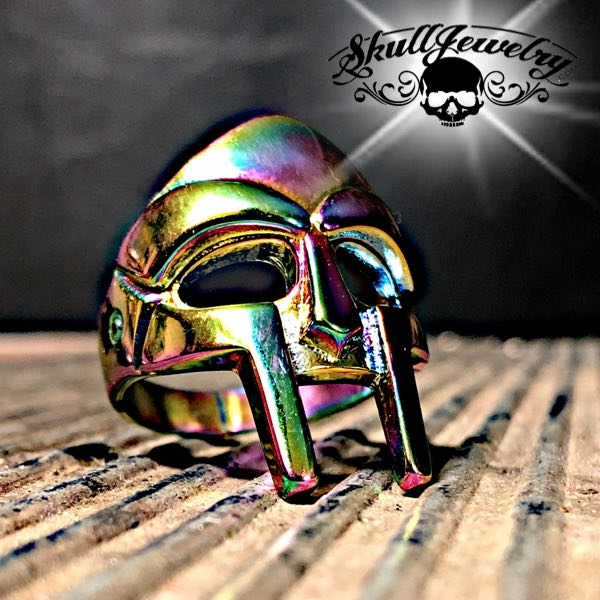 Psychedelic 'Spartan Mask' Stainless Steel Ring