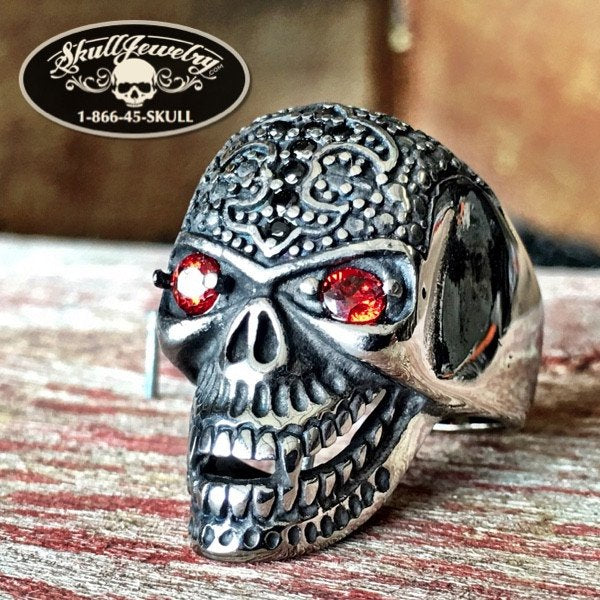 'Cross of Courage' Skull Ring