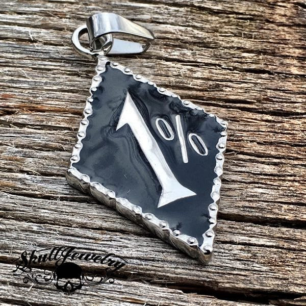 1% Stainless Steel Pendant