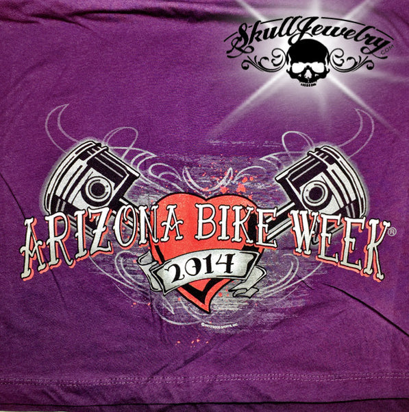 2014 Women's Arizona Bike Week Rally T-Shirt (wts002)