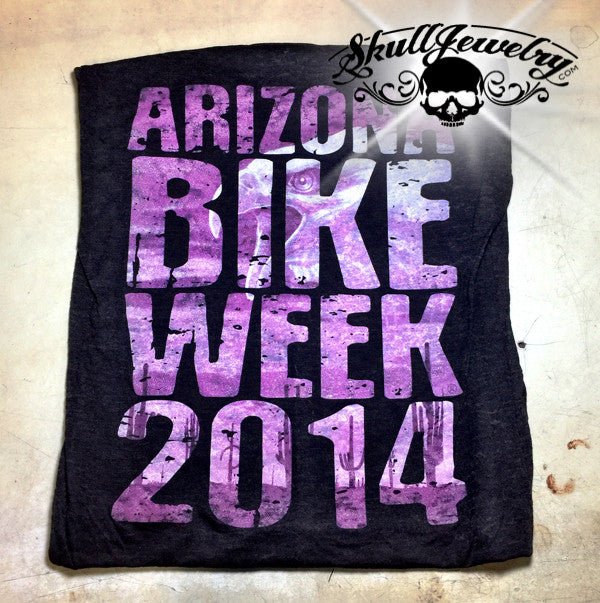 front - 2014 Womens Arizona Bike Week Rally T-Shirt ()