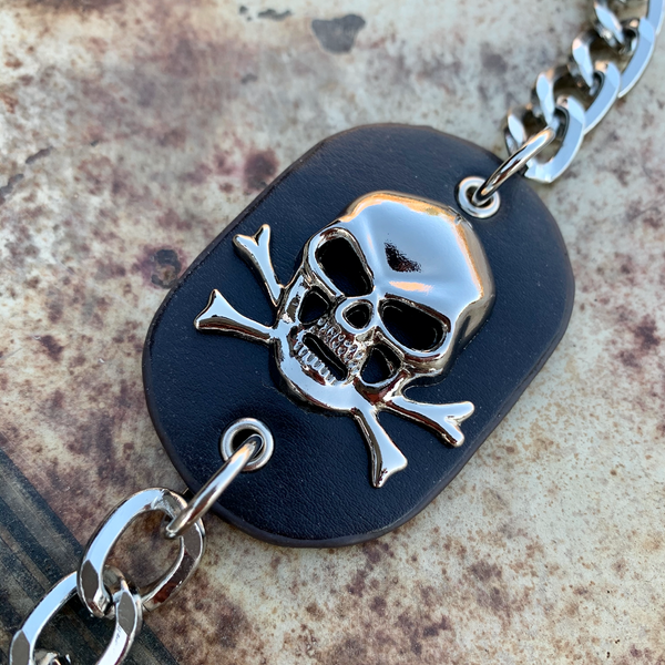 Skull & Leather Wallet Chain (WALLET_CHAIN026)