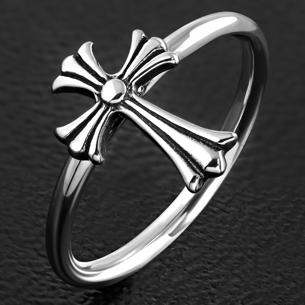 Dainty Cross Ring