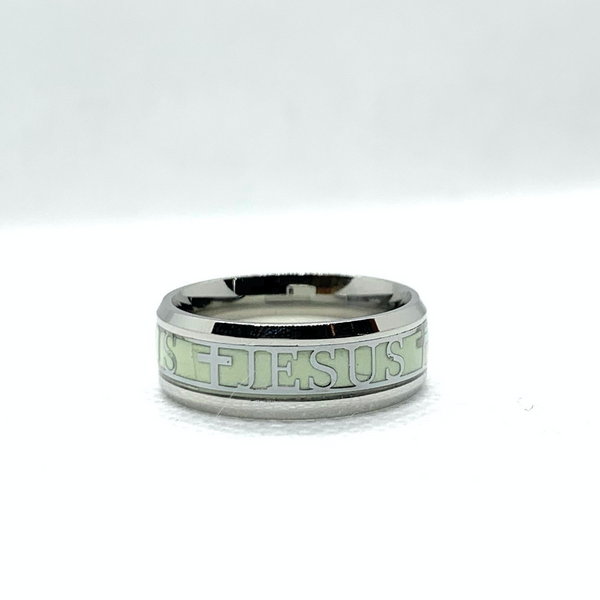 Glow in The Dark Jesus Band Stainless Steel Ring