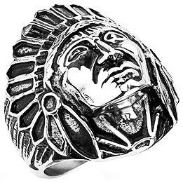 Apache Indian Chief Ring (242)