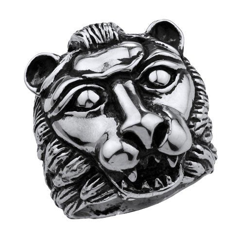 Big, Heavy and Solid Stainless Steel Lion Ring (226)