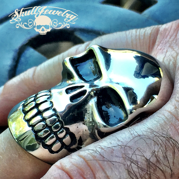 'Clay Marrow' Big, Bold & Heavy Skull Ring (231)