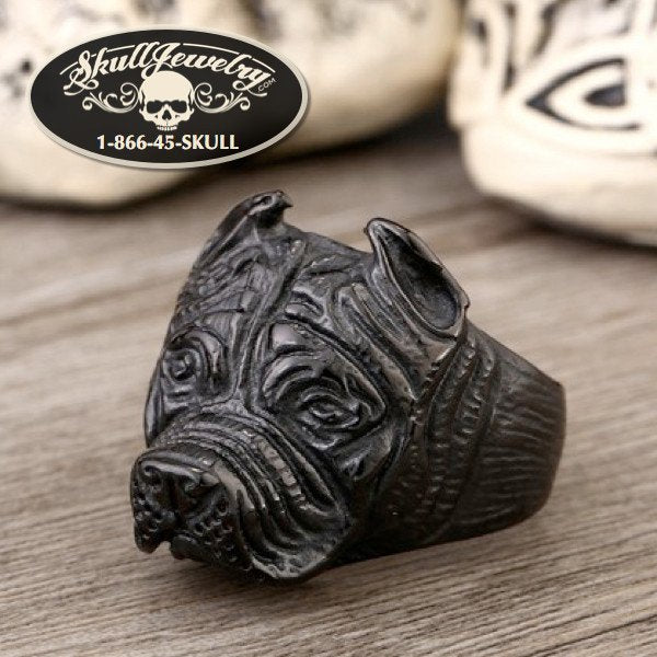 Black Pitbull Ring