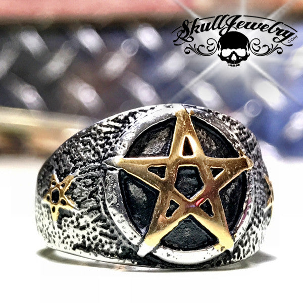 Five-Pointed Star Pentagram Ring (253)