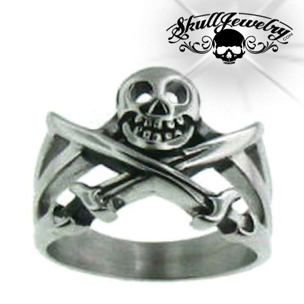 'Sir Henry Morgan' Skull & Swords Ring