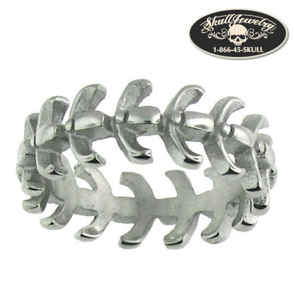 Stainless Steel Spine & Bones Ring