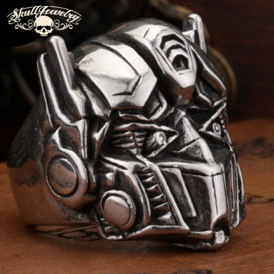 'Optimus Prime' Big, Bold Stainless Steel Ring