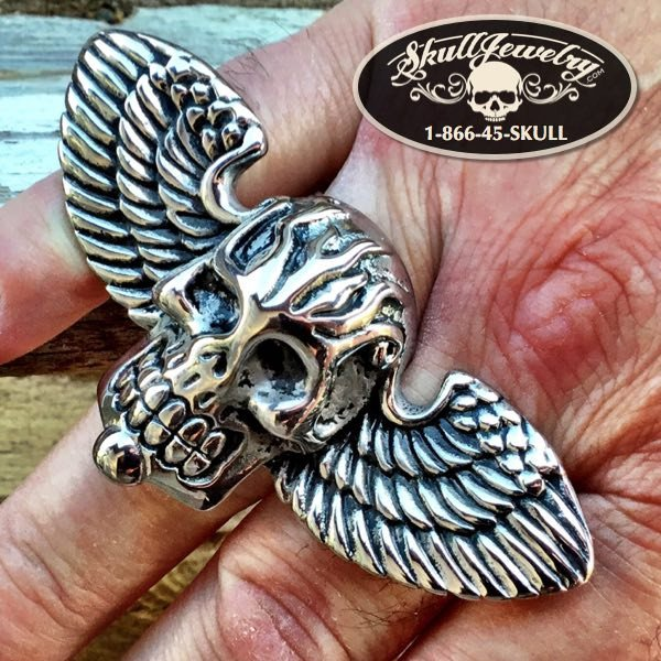 'Where To Now Saint Peter' Big, Bold & Heavy Skull Ring (316)