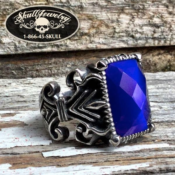 'Bleu Cobalt' Big, Bold Blue Gem Ring