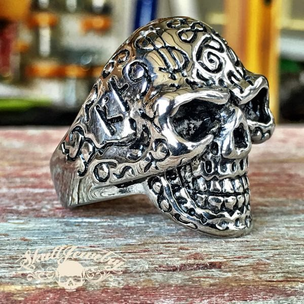 'Easy Money' Big, Bold & Heavy Skull Ring