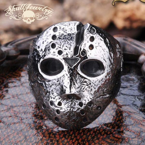 Jason Mask / Friday The 13th / Halloween Stainless Steel Ring