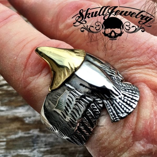 'Thunderbird' Strength, Courage & Wisdom Eagle Ring