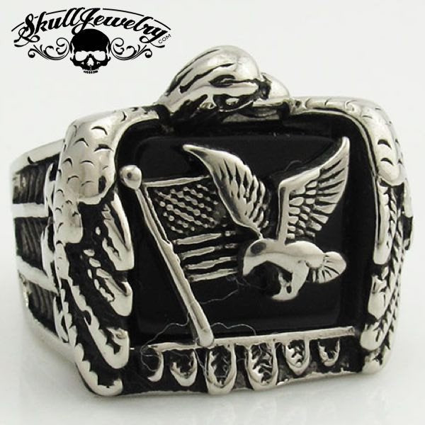 American Flag and Eagle Ring
