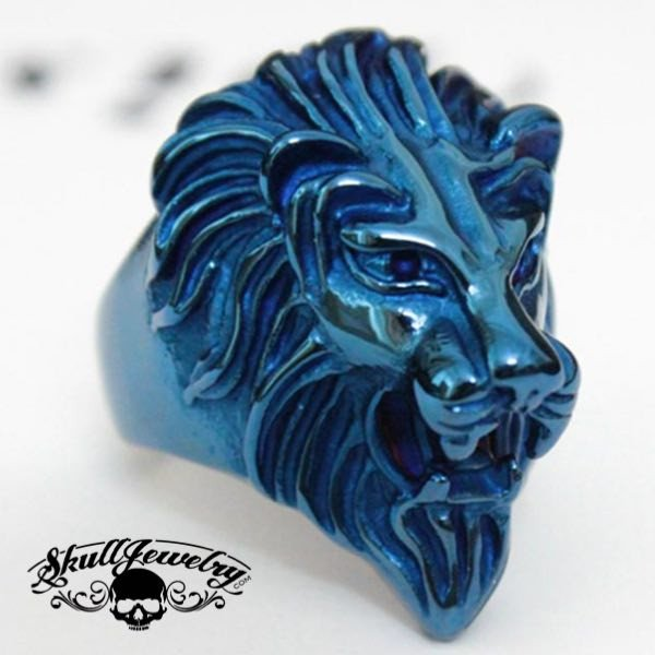 BLUE 'King Leonidas' the Lion - Big, Bold & Heavy Ring