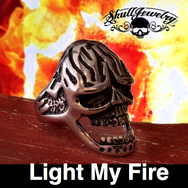 Light my Fire doors skull ring