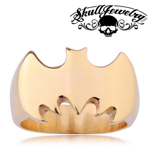 GOLD 'Batman' Stainless Steel Ring