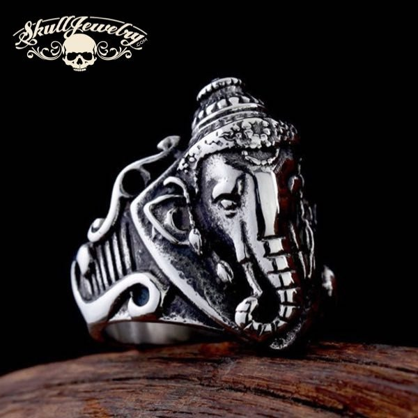 'Sacred Elephant'  Stainless Steel Ring