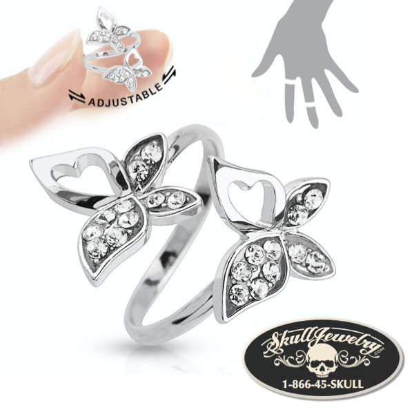 Double Butterfly Adjustable Mid-Ring