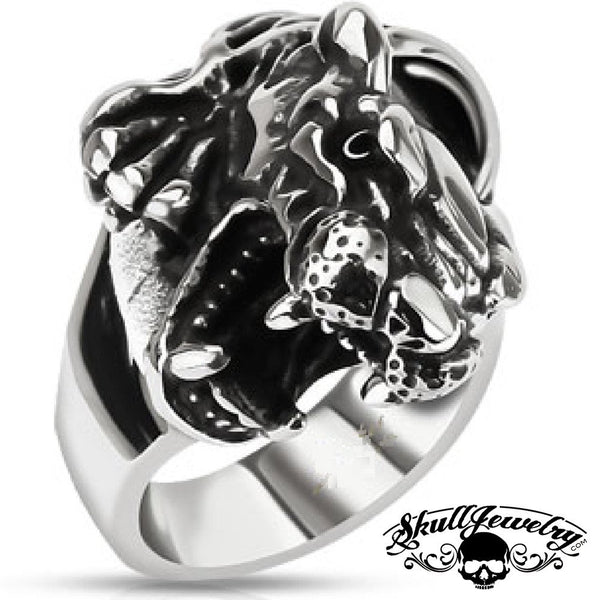 Fierce Panther Stainless Steel Ring
