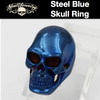 Big, Bold & Heavy STEEL BLUE Skull Ring