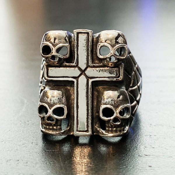 Four Cross Skull Ring - LIMITED * This ring will not be restocked. Once sold out, it is gone.