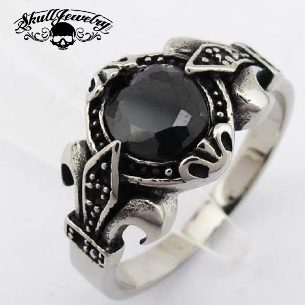 'Black Magic Woman' Gemstone Stainless Steel Ring