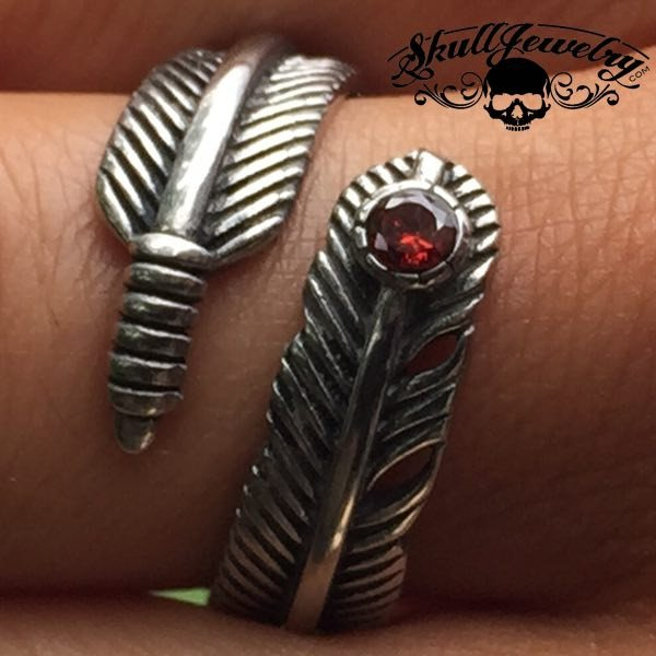 'Ruby Feathers' ring