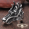 Vintage Gothic Dragon with Black Eyes