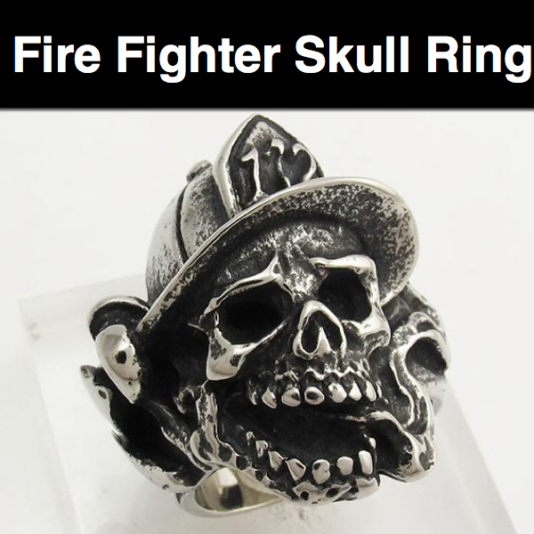 Fire Fighter Stainless Steel Ring
