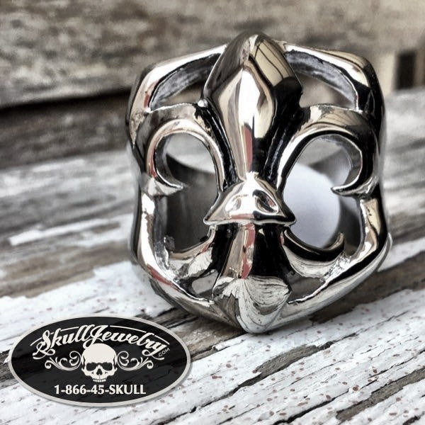 'Revival' Large Stainless Steel Ring (571)