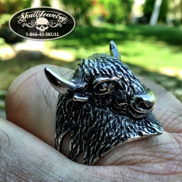 'American Bison' Stainless Steel Ring
