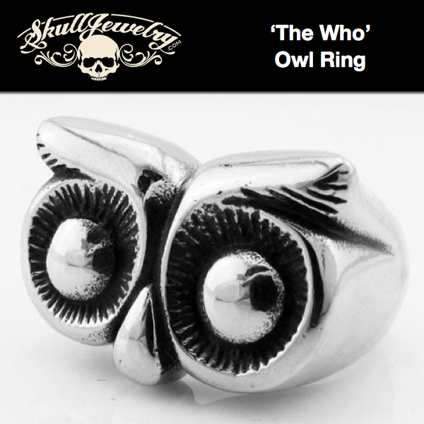'The Who' Medieval Owl Ring