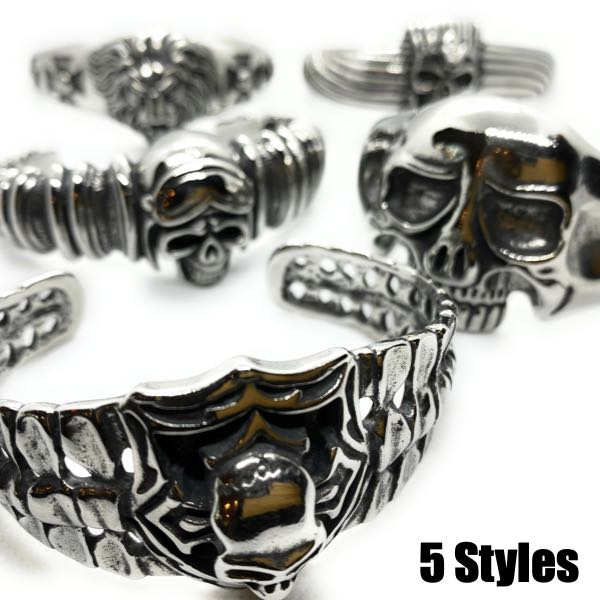 5 styles of bangle bracelets