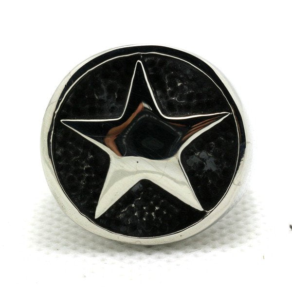 Gothic Five-Point Star Stainless Steel Ring (448)