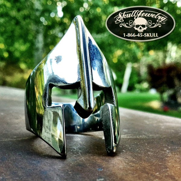 'Spartan Mask' Stainless Steel Ring