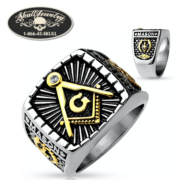 2-Tone Mason Stainless Steel Ring